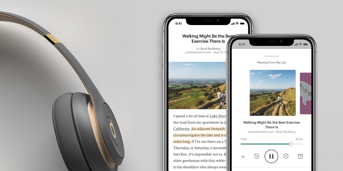 Pocket read-it-later app updated with one-tap listening, fresh design
