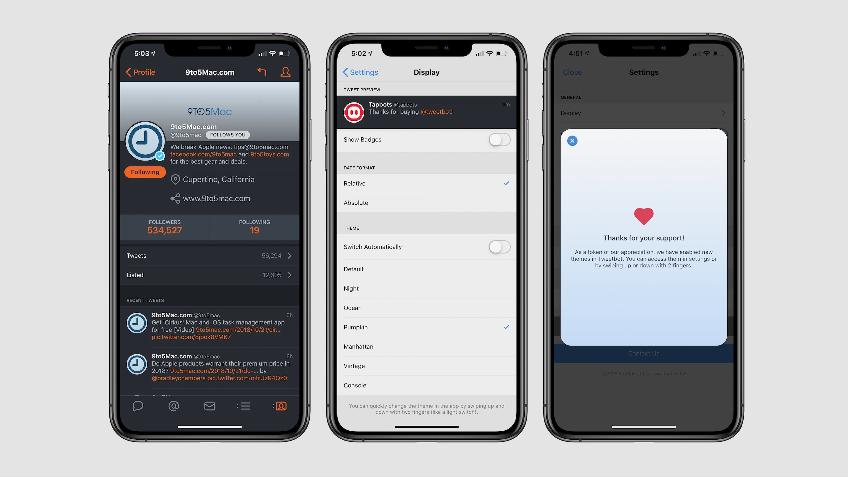 how to unlock additional five additional themes in tweetbot 5 for ios