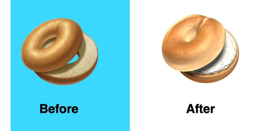 apple solves bagelgate with a more appetizing bagel emoji