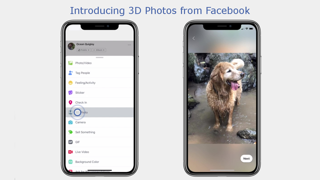 Facebook Makes 3D Photos Available For IPhone Portrait