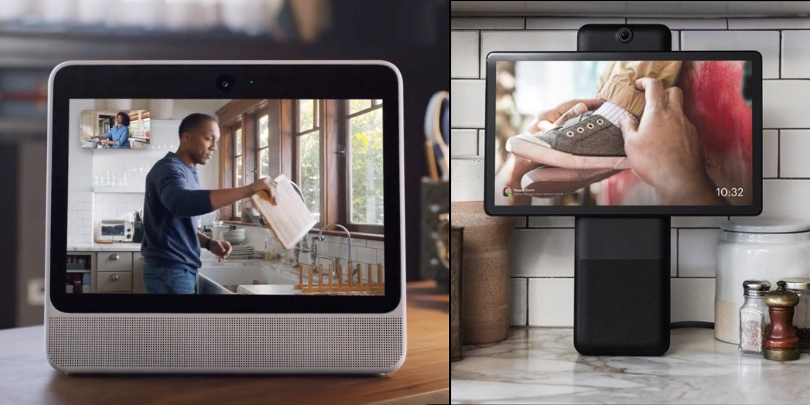 facebook enters the smart speaker race with portal and portal featuring video calls and amazon alexa