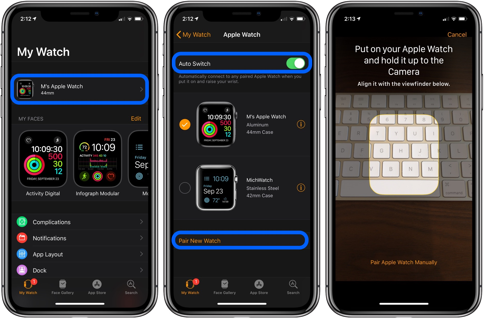 iPhone with multiple Apple Watches