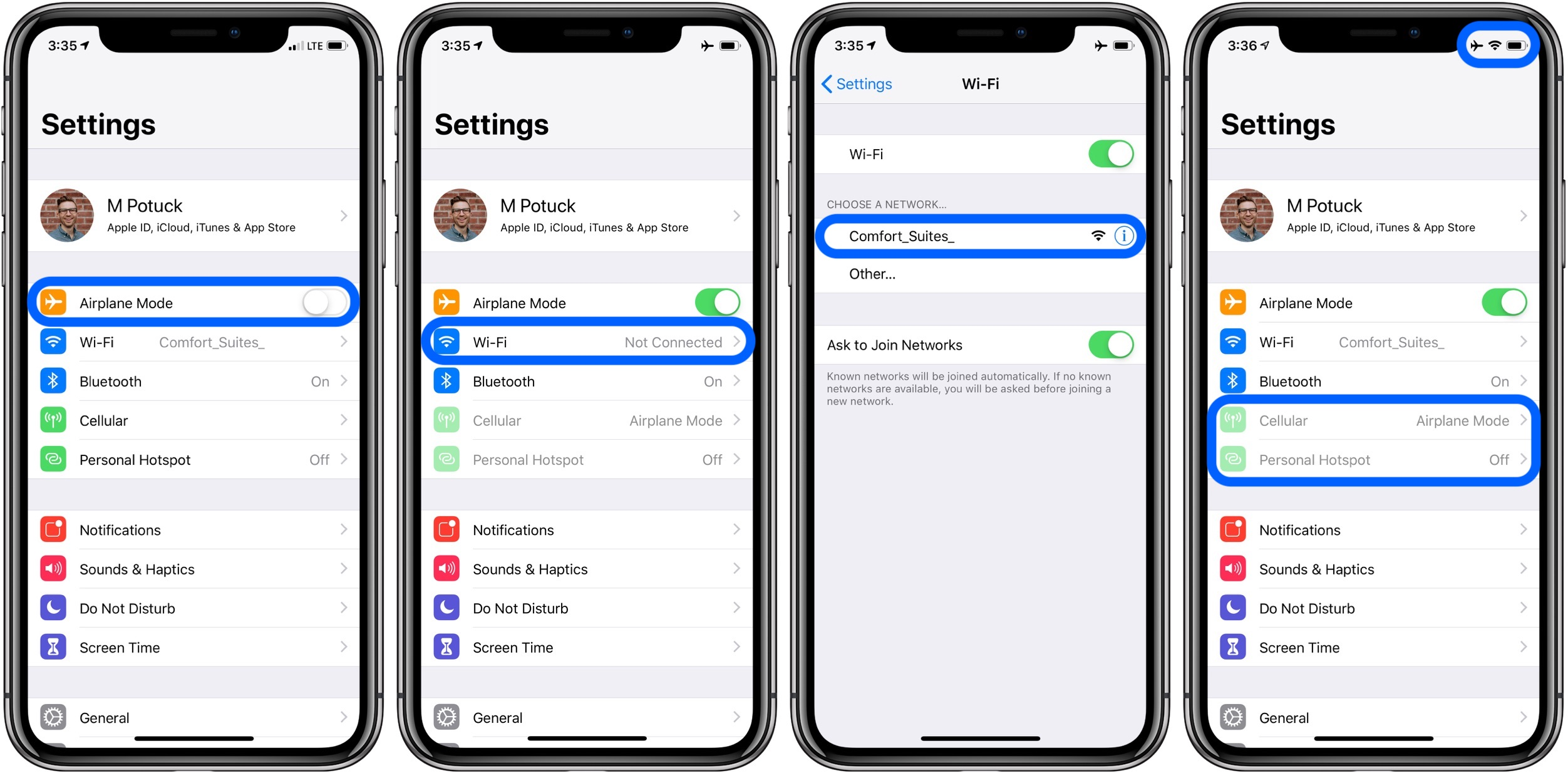 How To Use Wi Fi With Airplane Mode On Iphone 9to5mac
