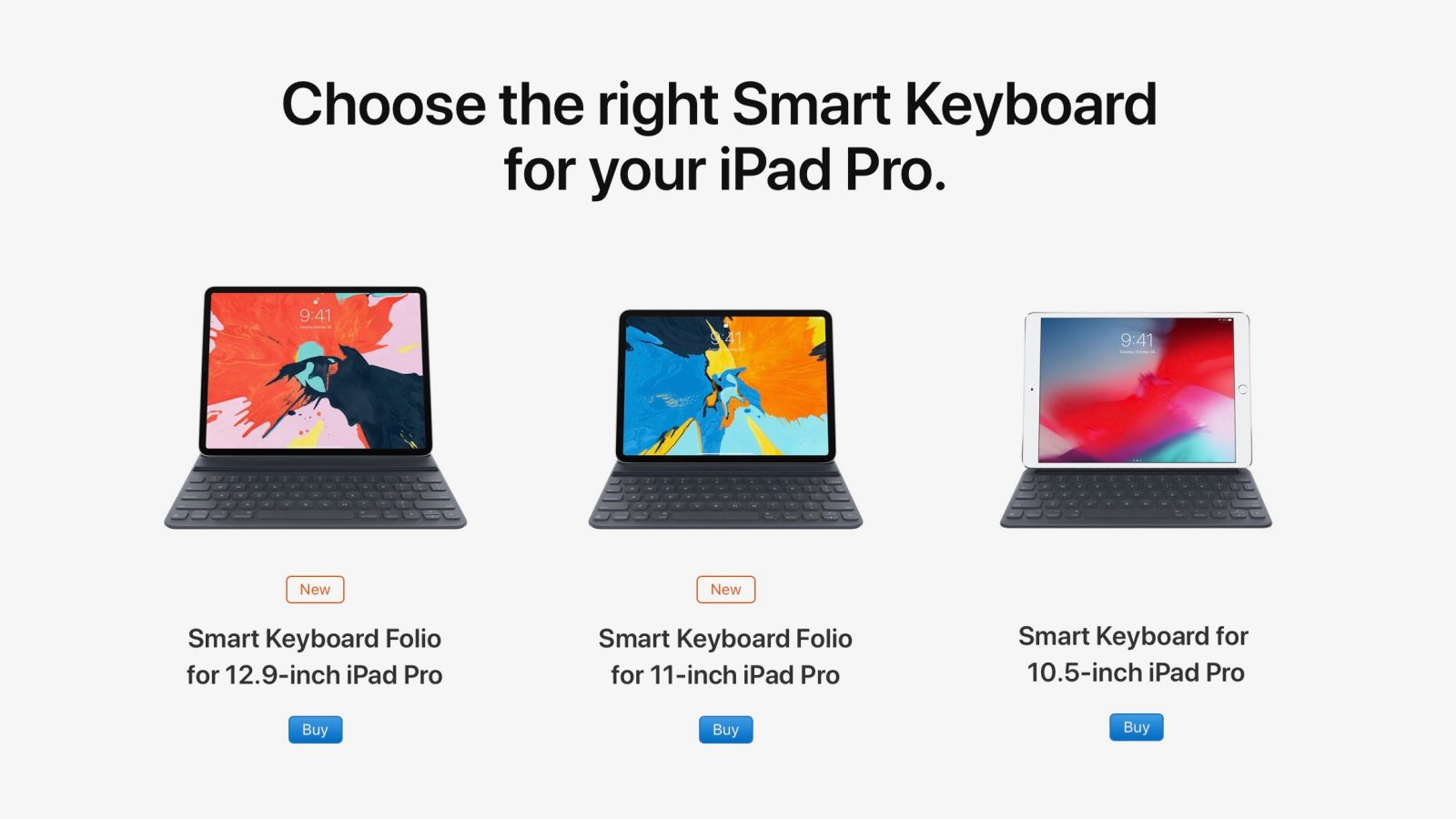 71c0bc083b8 Smart Keyboard Folio, Smart Folio, and more for 2018 iPad Pro now available  to order