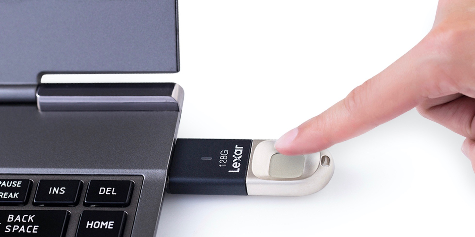 lexar launches new jumpdrive fingerprint secure usb 3 0 flash drives with 256 bit encryption