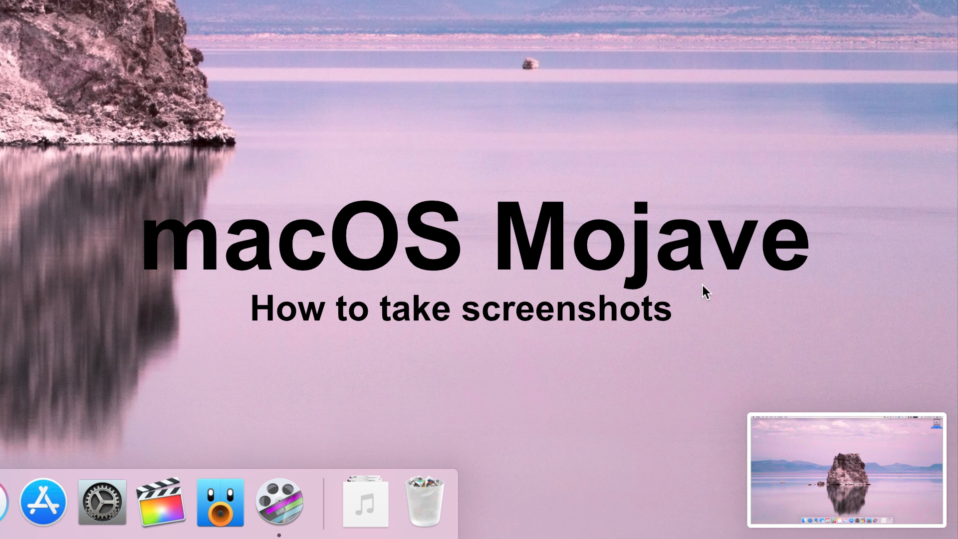 how to master macos mojave screenshots video