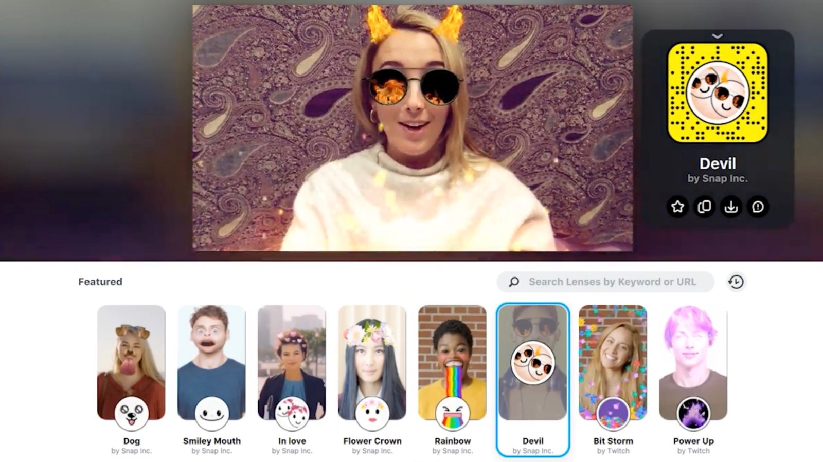 Snapchat Lenses come to Mac and PC with new Snap Camera