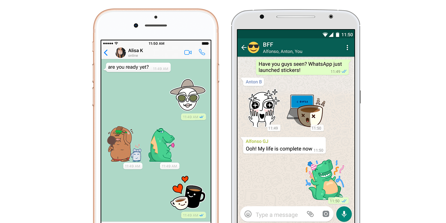 Whatsapp stickers on the way and artists can create their own 9to5mac