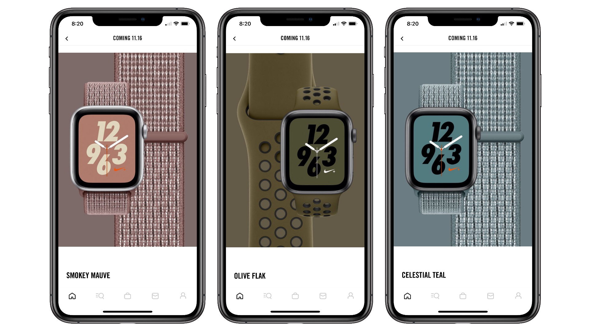 Three new Apple Watch Nike Sport and Sport Loop band colors coming this week