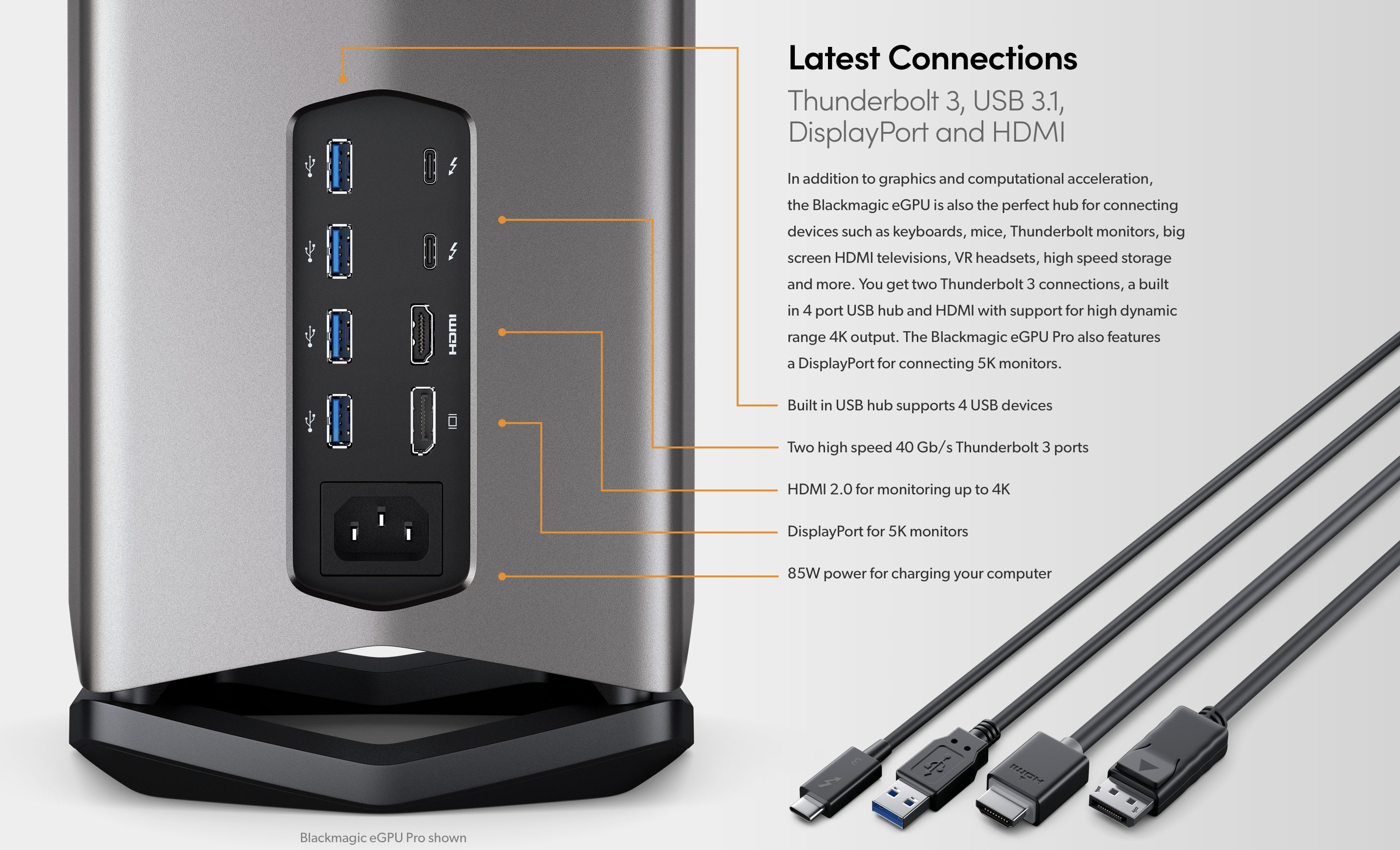 Blackmagic eGPU Pro with powerful RX Vega 56 now available
