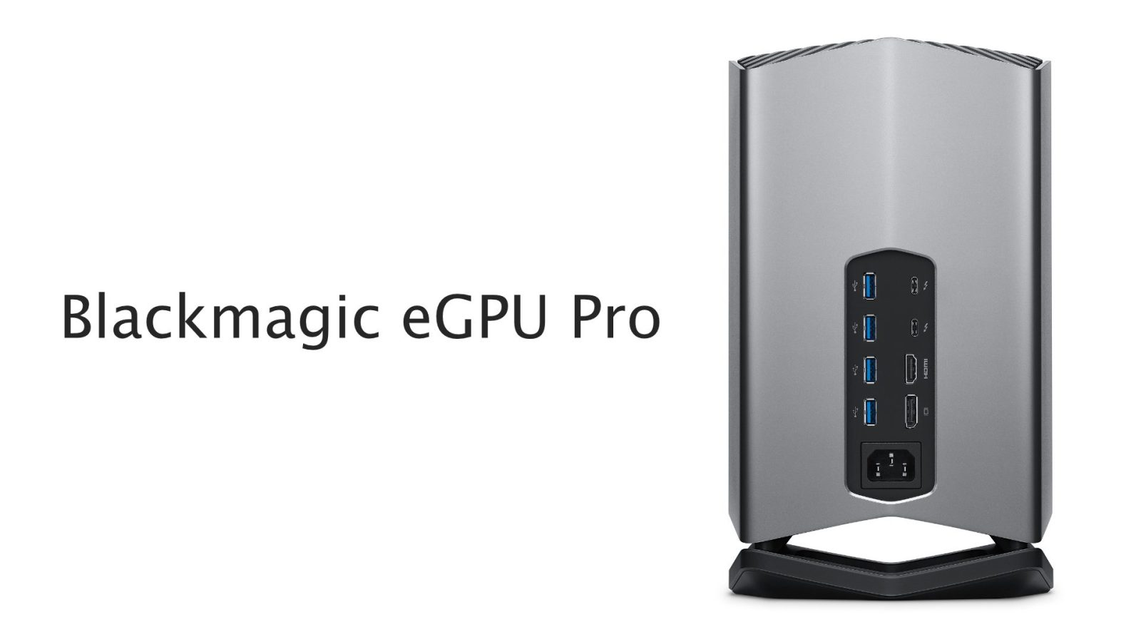Blackmagic eGPU Pro with Radeon RX Vega 56 release delayed until December