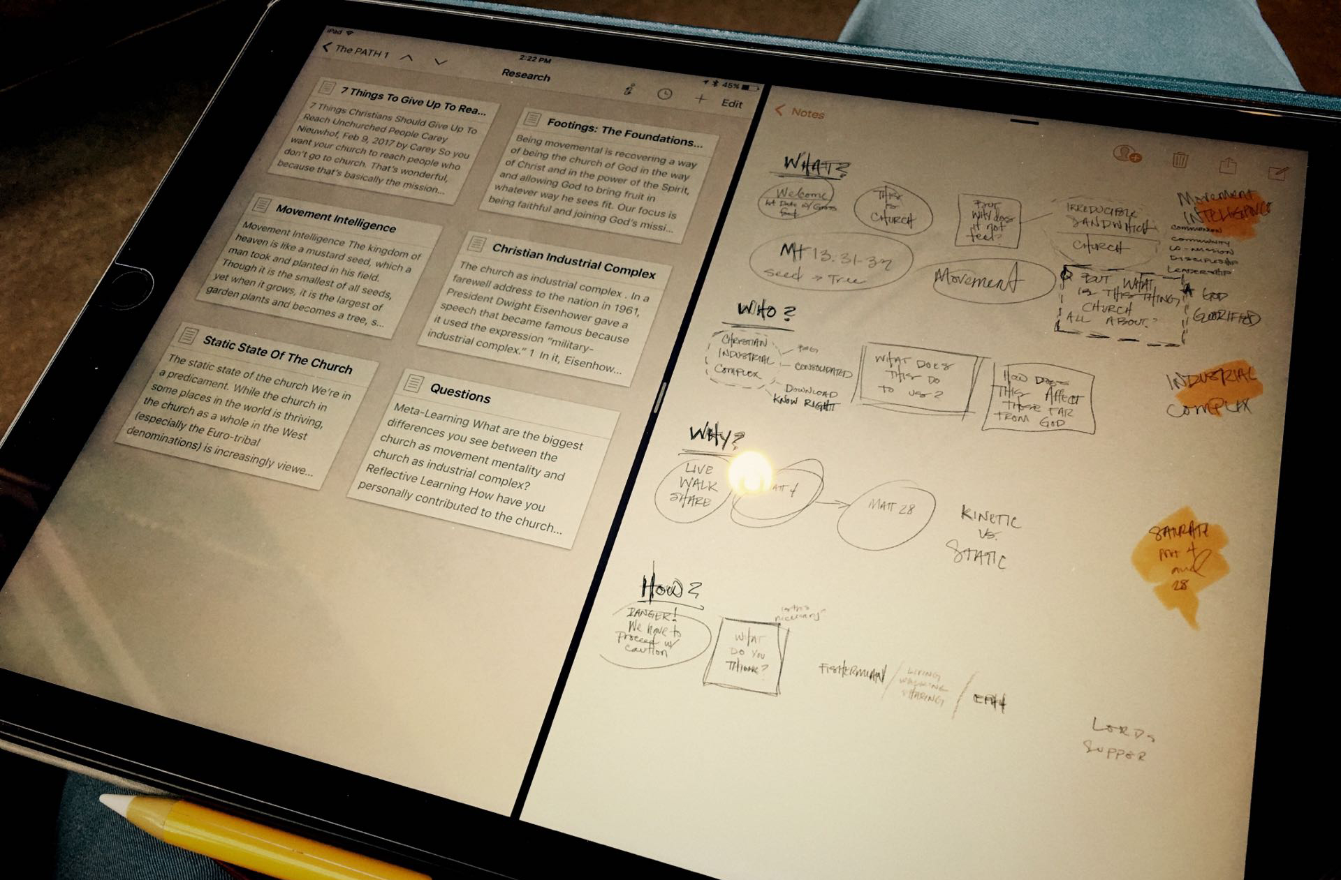 iPad creative workflows