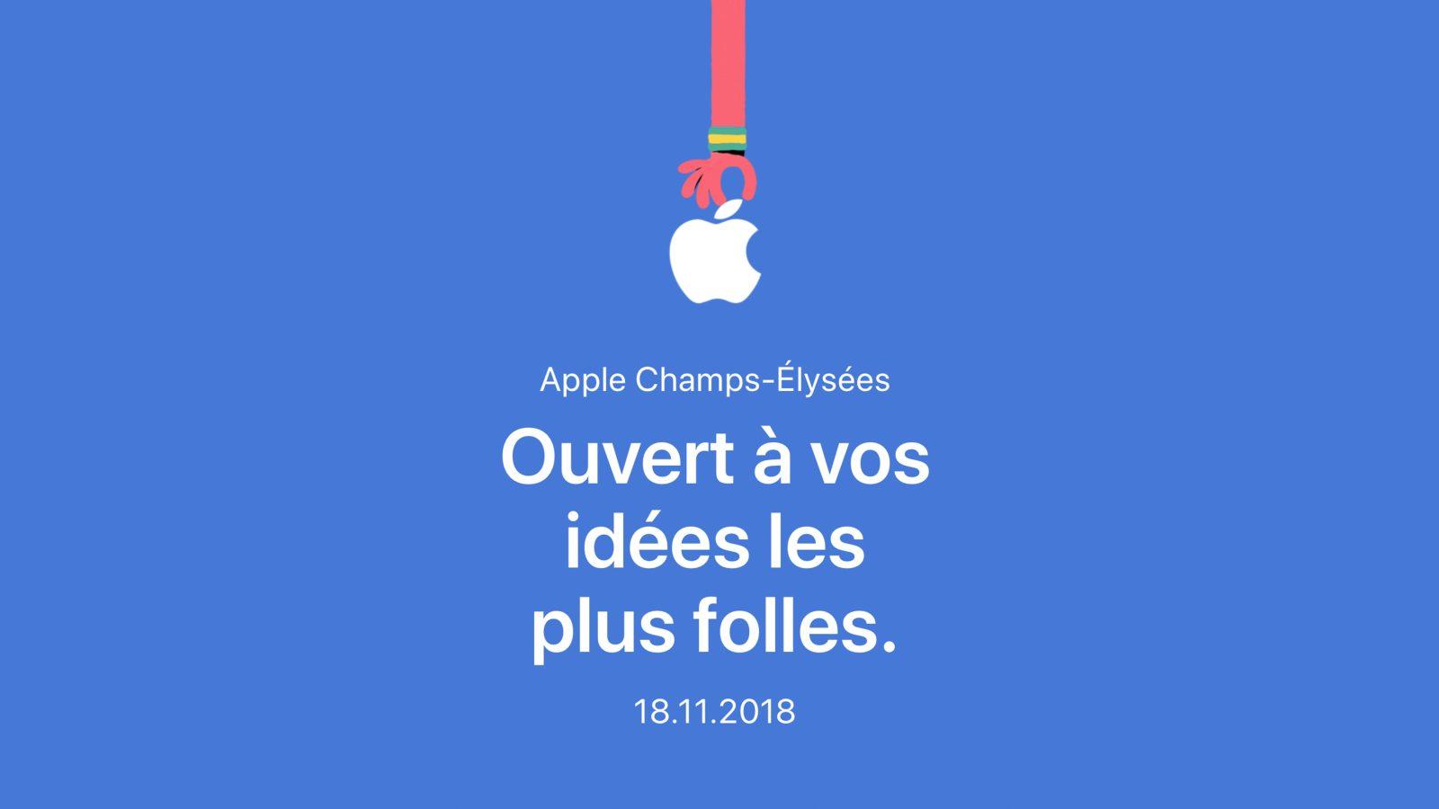 Apple Champs-Élysées Opens in Paris on November 18th
