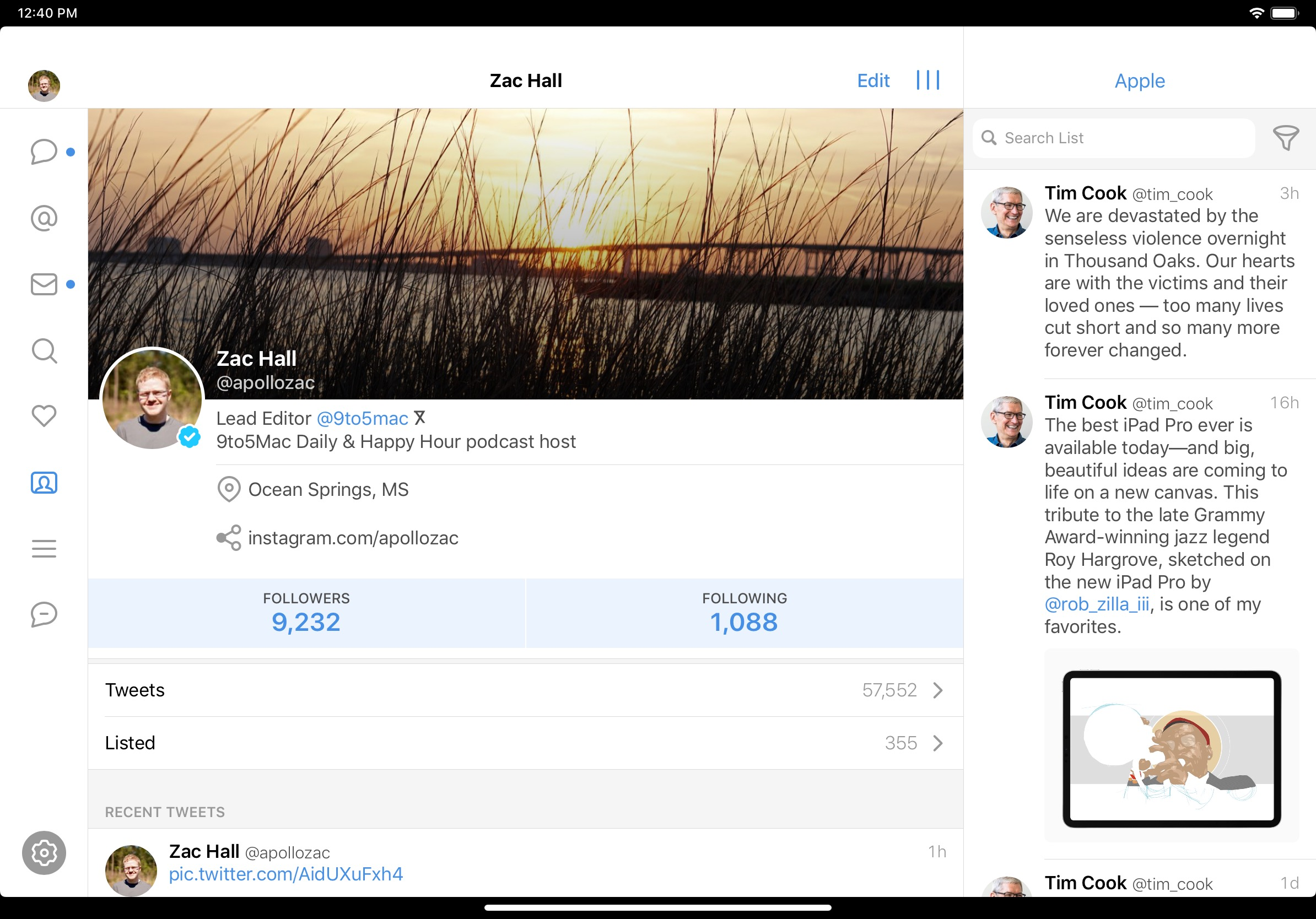 Tweetbot for iOS updated with optimization for new iPad Pro displays