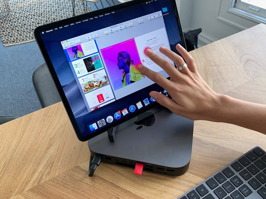 Mac mini touchscreen display