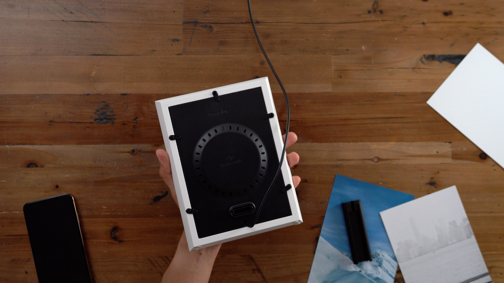 21e16b21523 Hands-on  Twelve South PowerPic Wireless Charger - old school meets ...