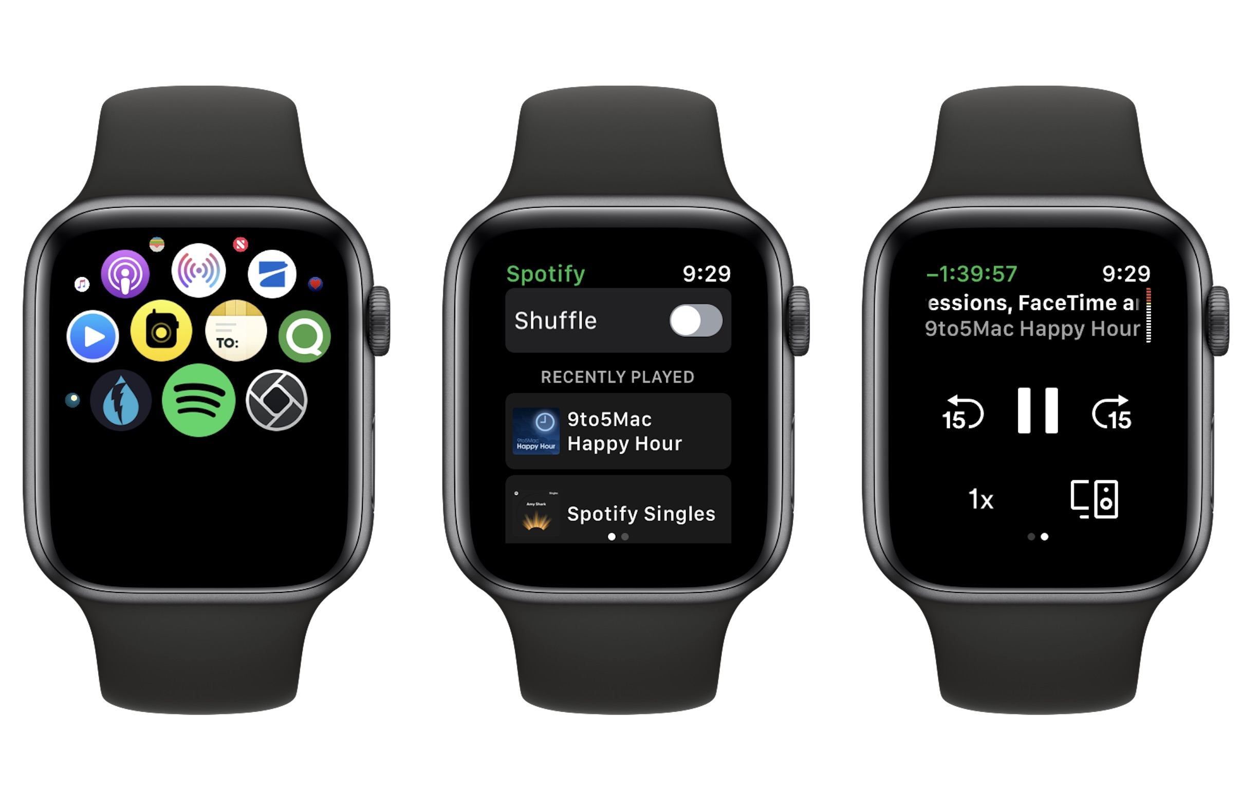 Spotify for Apple Watch - Spotify releases 'first version' of its Apple Watch app with limited features