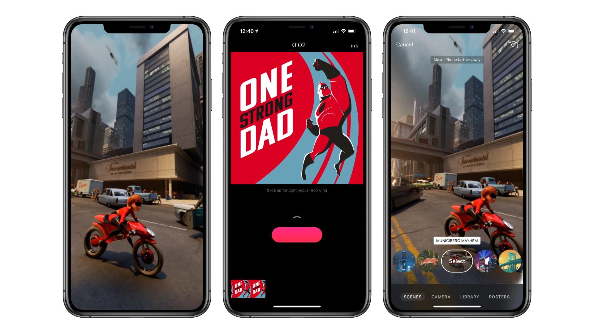 Apple's Clips app gains six Selfie Scenes, Incredibles 2