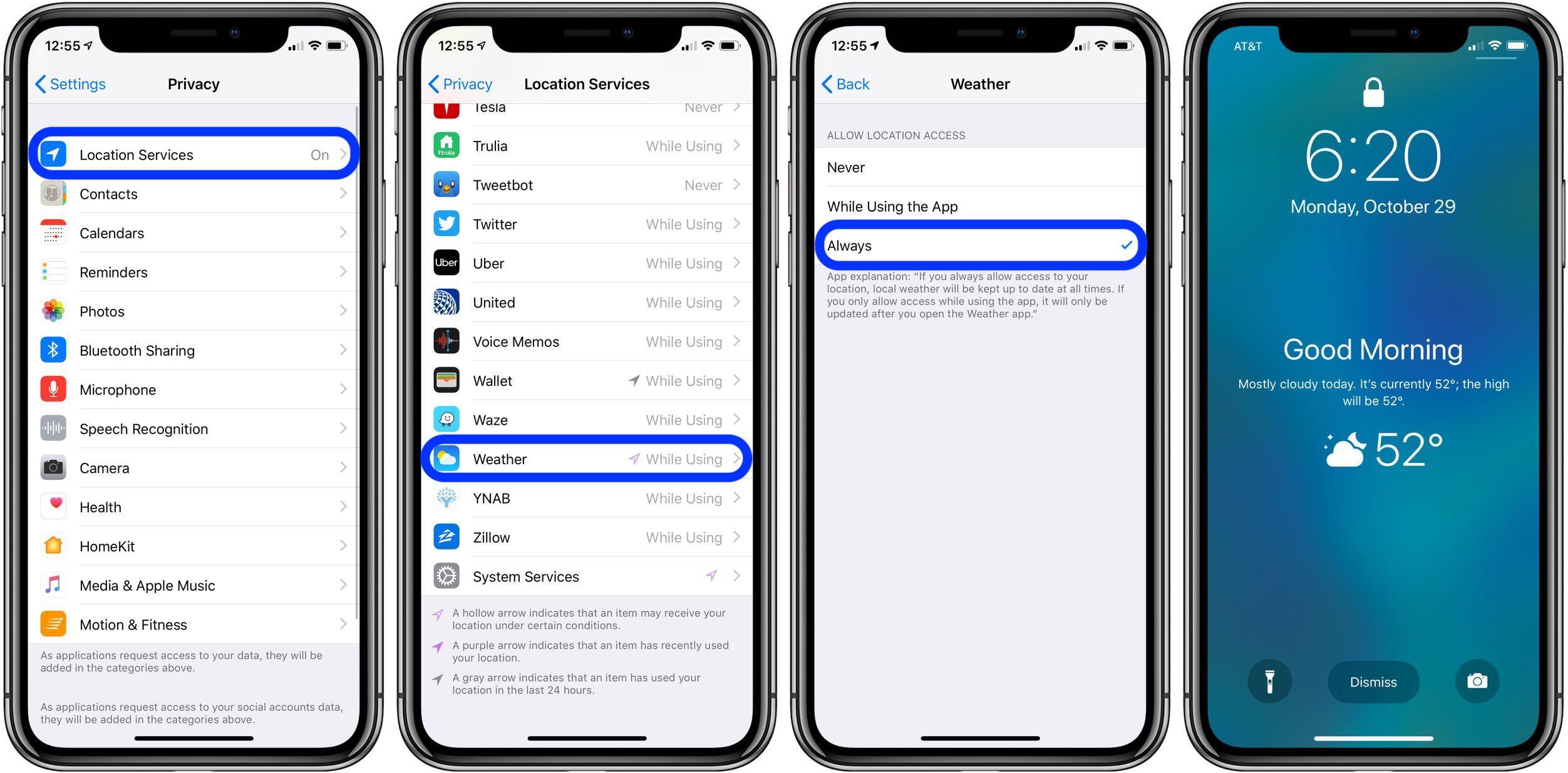 add weather summary to iPhone Lock screen