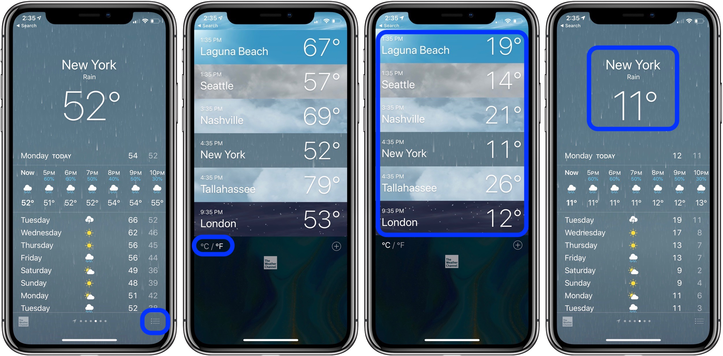 Fahrenheit and Celsius on iPhone