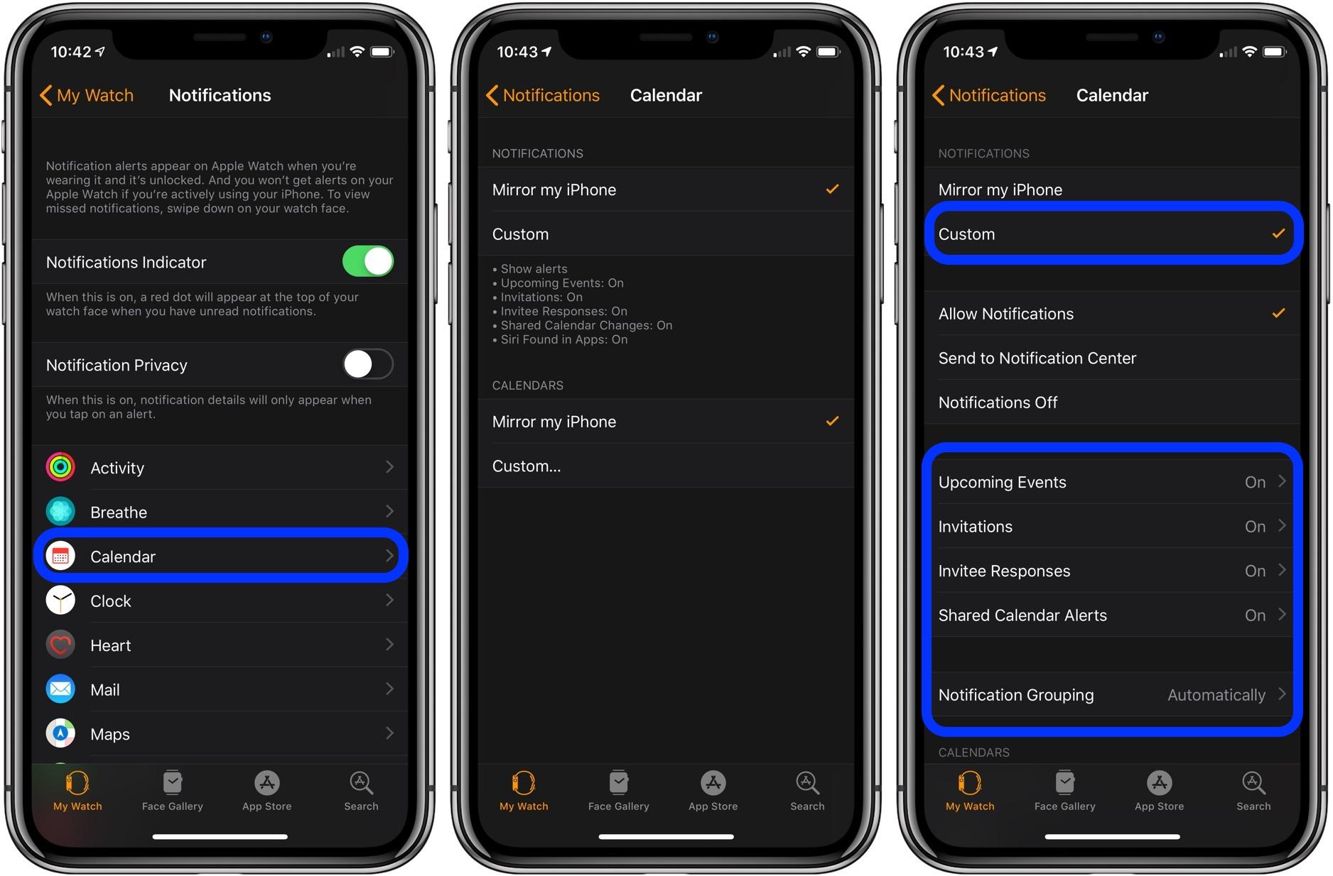 customize Apple Watch notifications