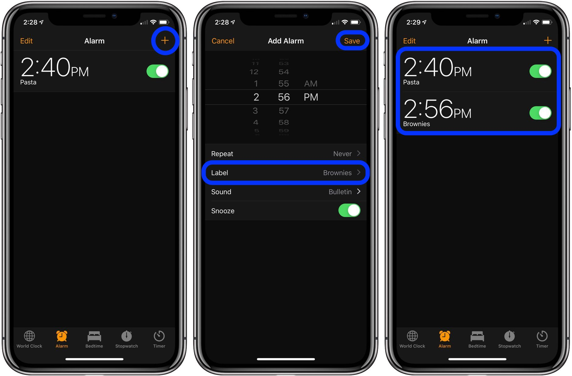 set timers on iPhone