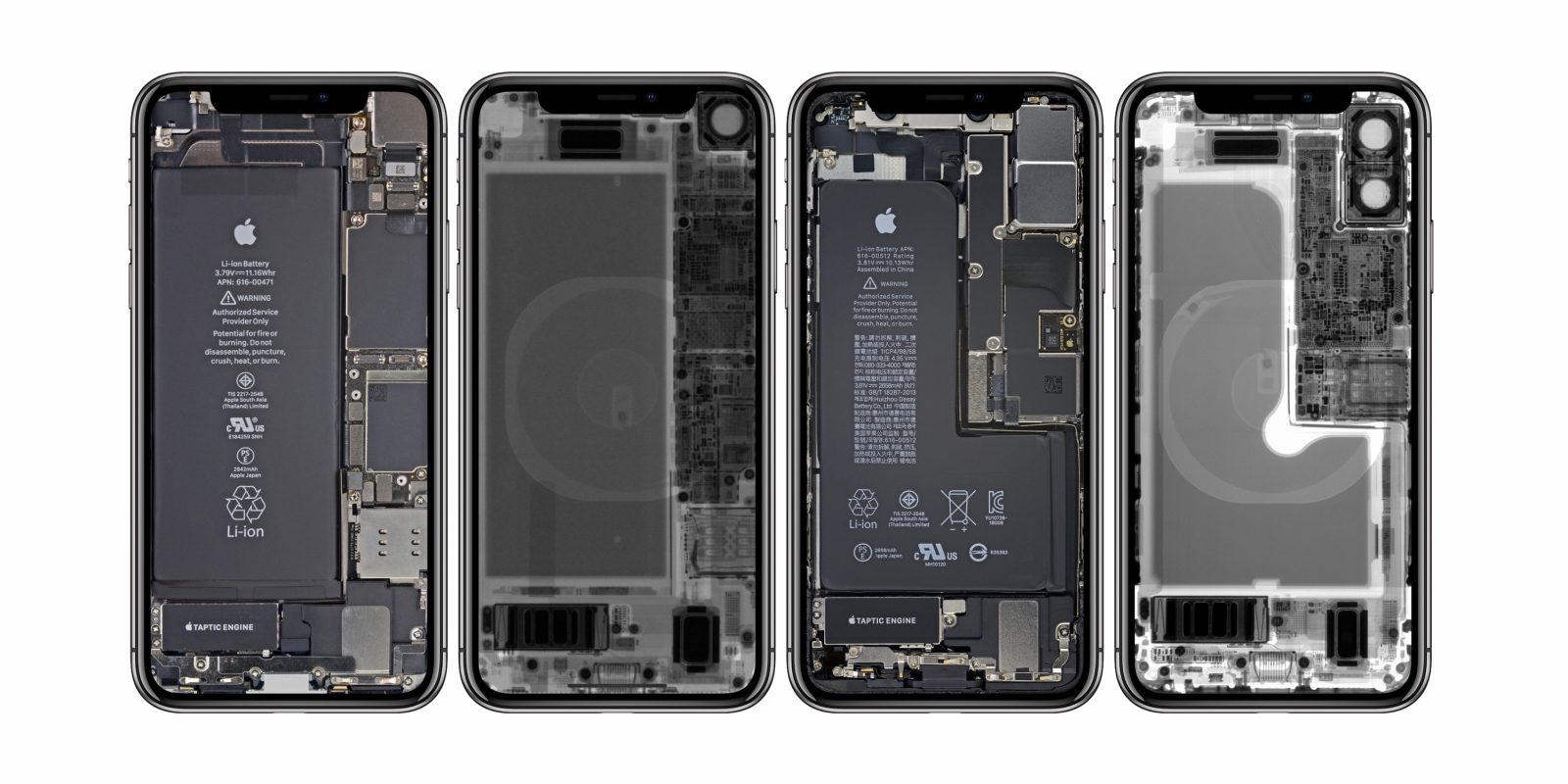 iFixit releases fun x-ray and internal wallpapers for iPhone XR, XS available too