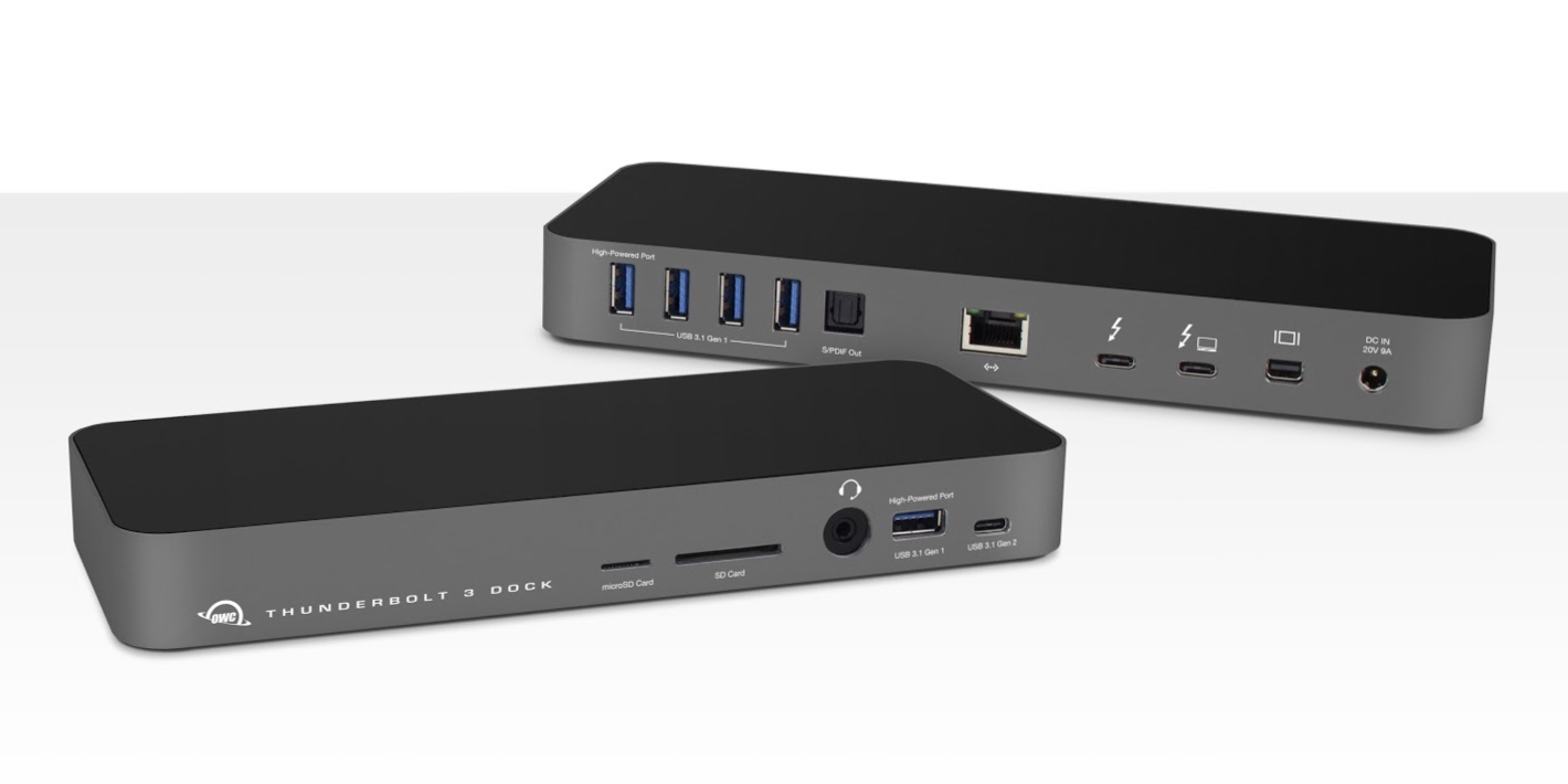 OWC announces new Thunderbolt 3 dock with 85W charging