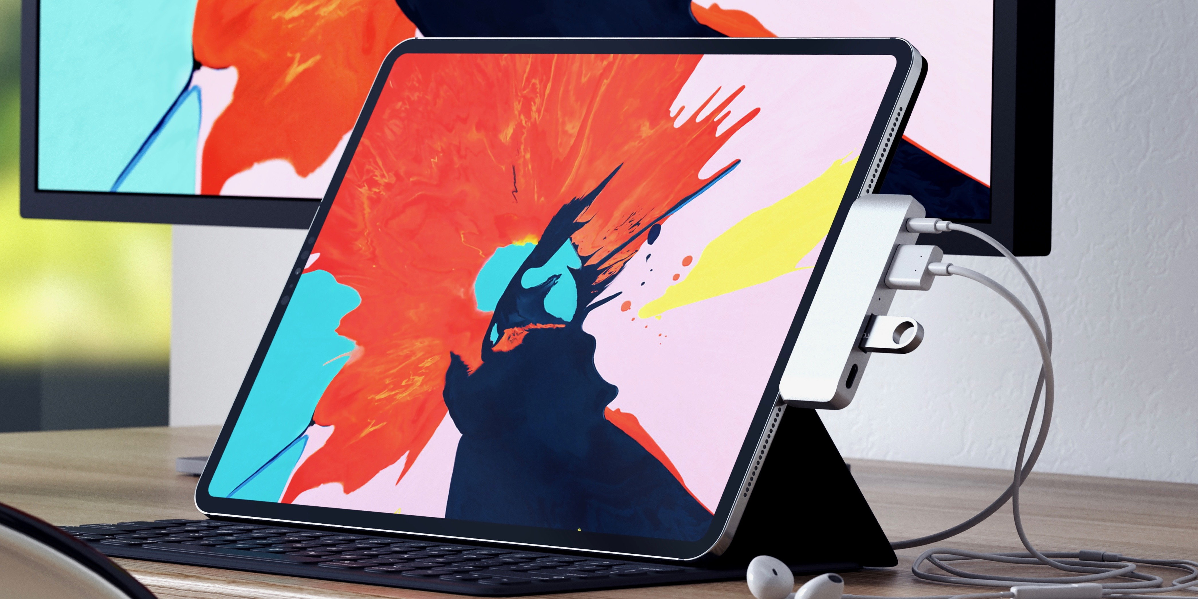 photo image Satechi's iPad Pro USB-C hub with HDMI, USB-A, and headphone port launches with $45 promo