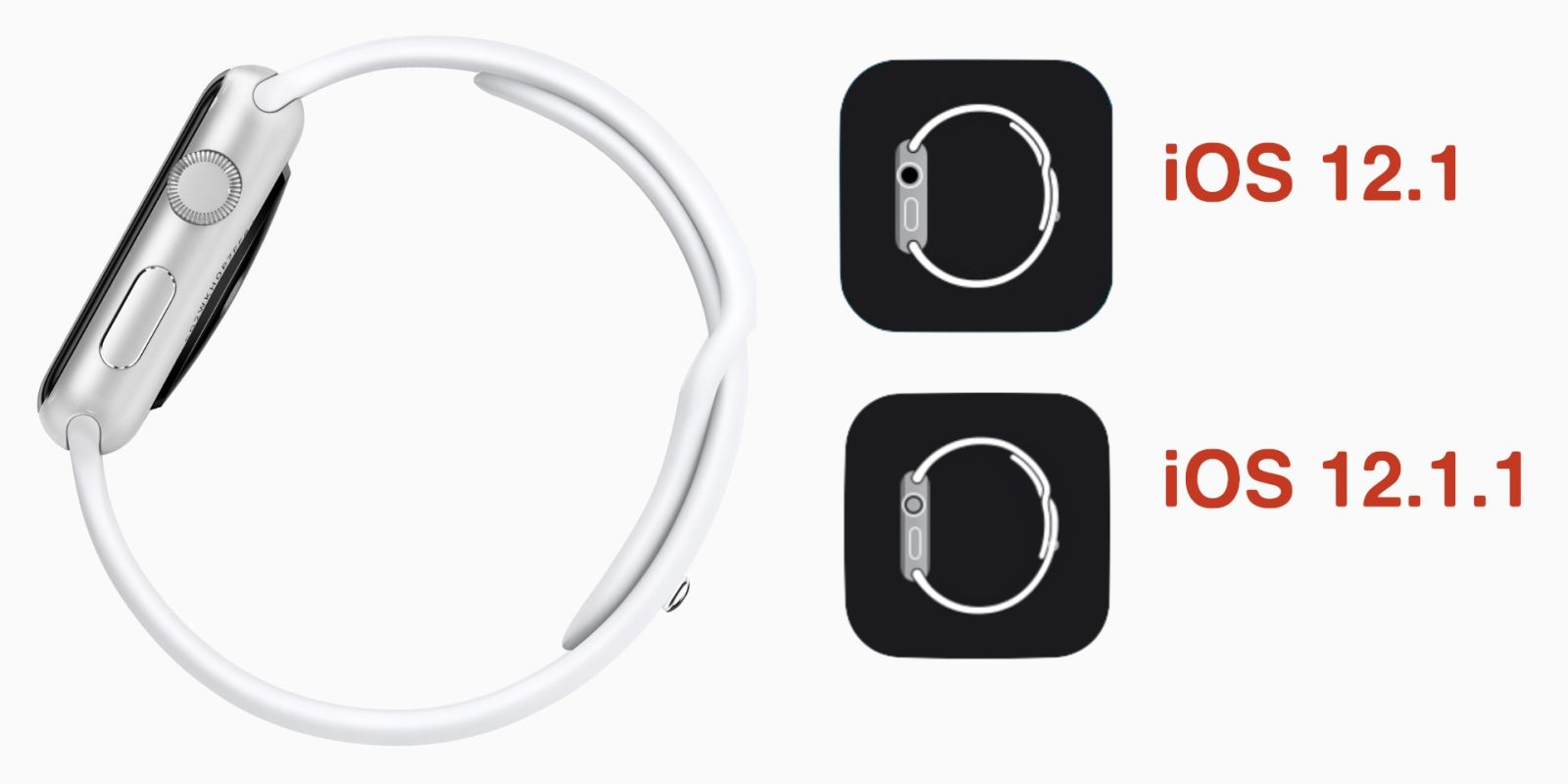 Apple Watch App Icon Upgraded from Original Model to Series 4 in iOS 12.1.1