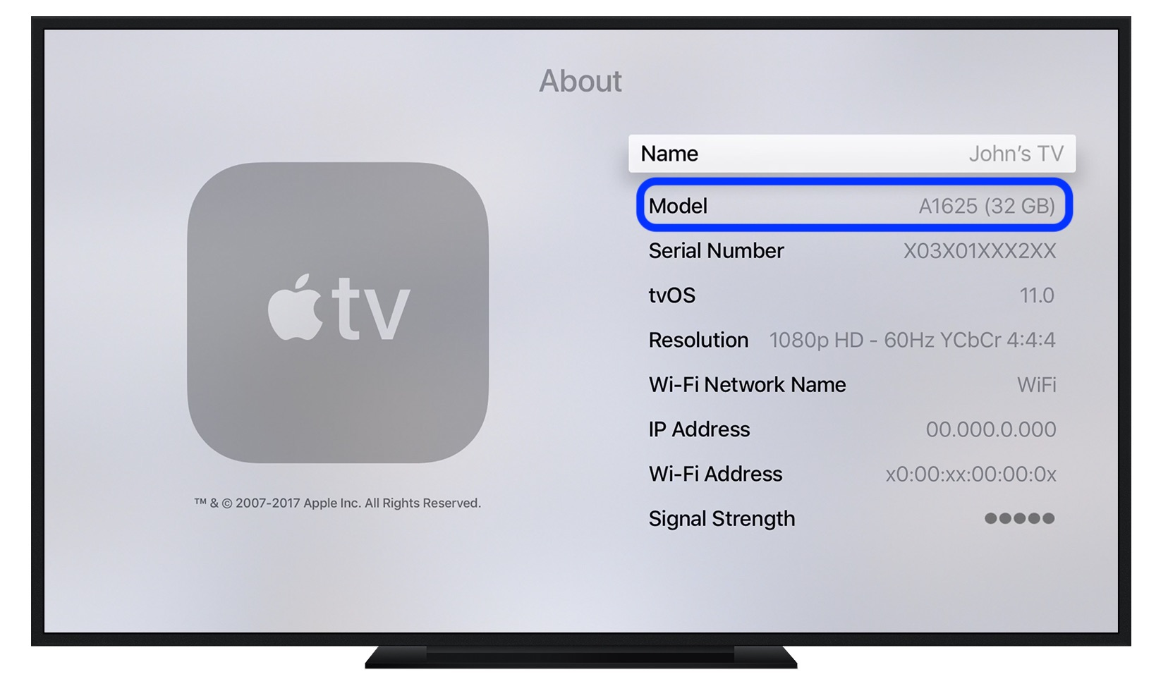 which Apple TV model
