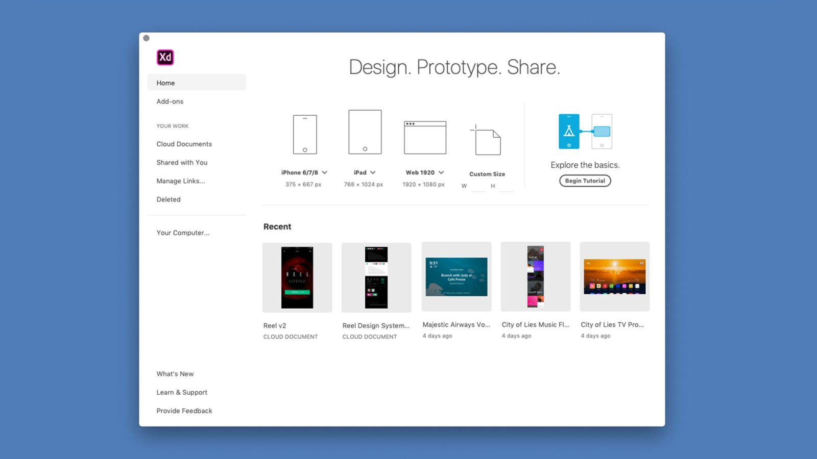 Adobe XD adds cloud document support, live collaboration