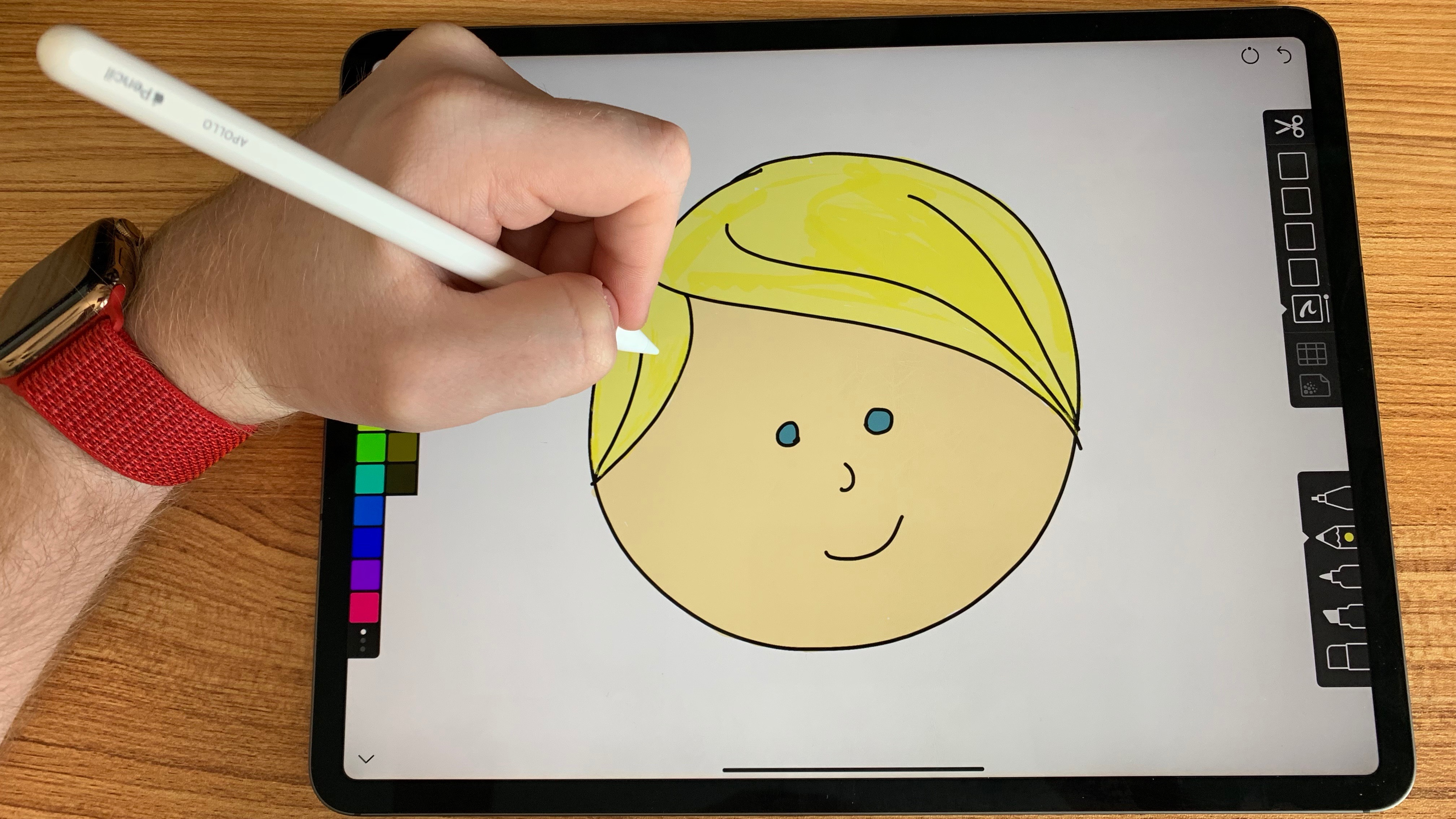 Linea sketch updated for ipad pro with apple pencil gestures new fill and blending tools more