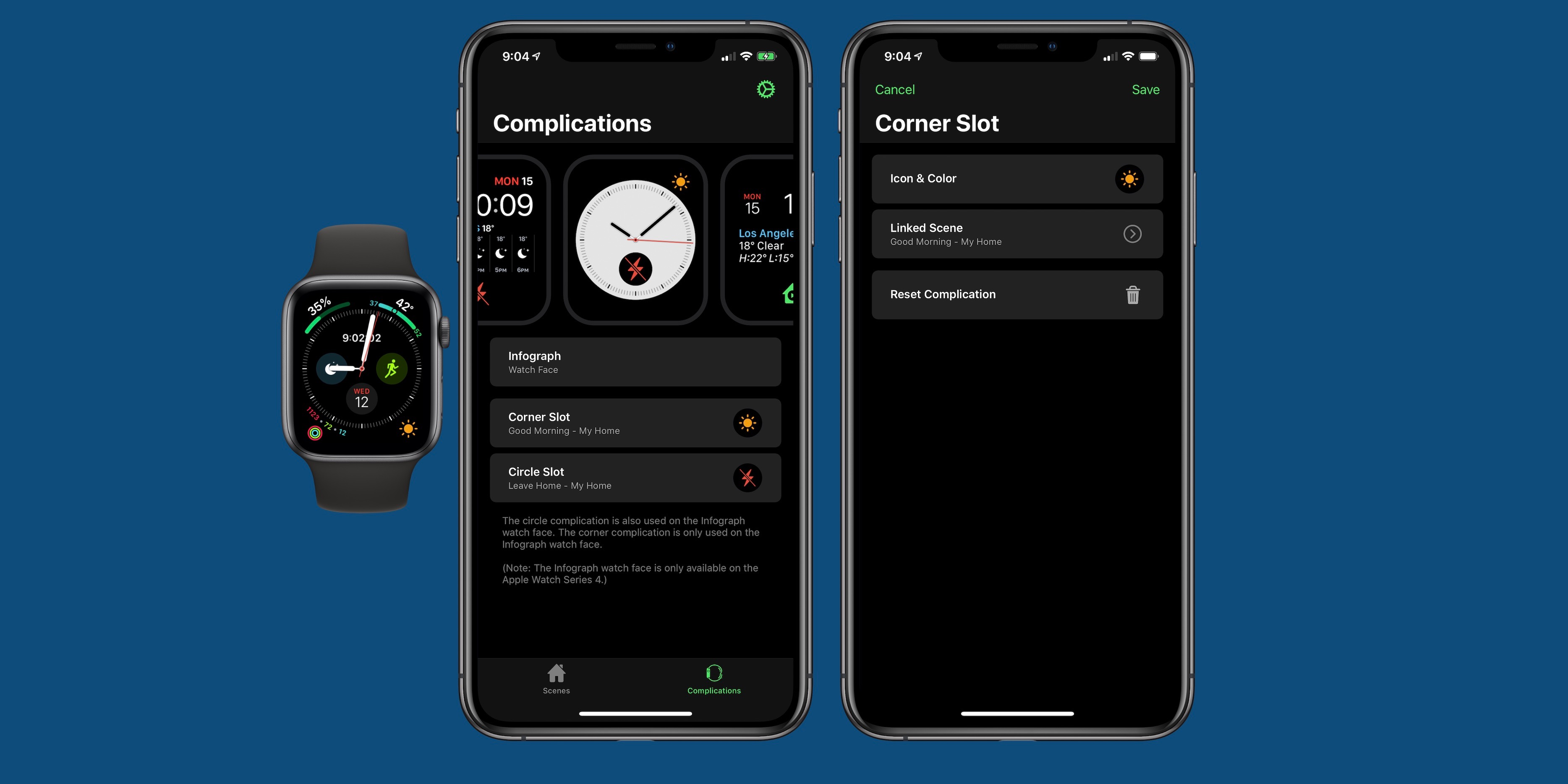 HomeRun for Apple Watch HomeKit control adds support for creating custom complications