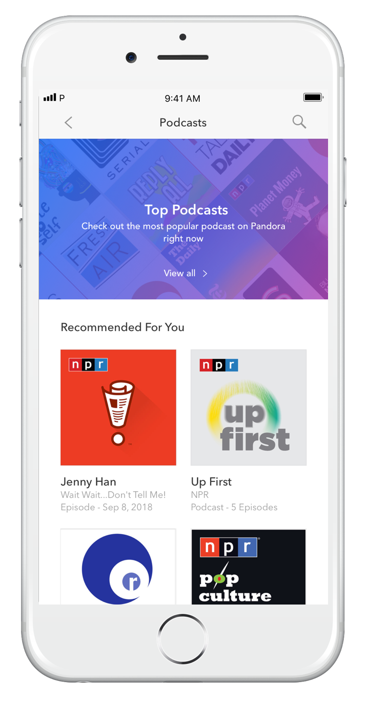 Podcasts on Pandora officially launches with 100,000 episodes from