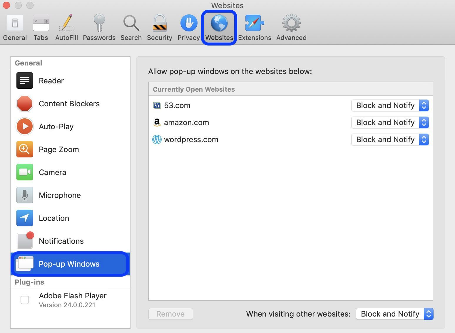 how to lock browser on mac