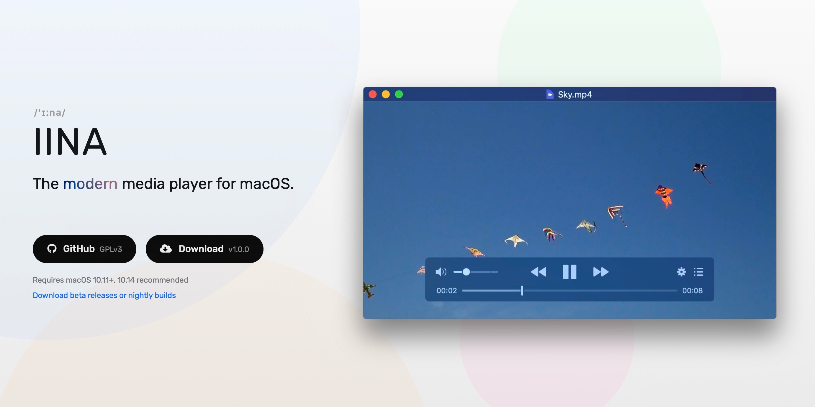 IINA for macOS launches as modern media player alternative to VLC with dark mode, PIP, more