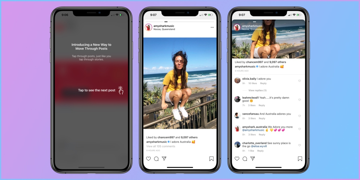 Instagram Widely Tested Stories-like One-post-per-page