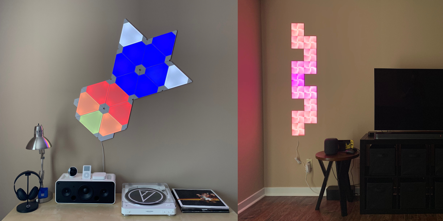 outlet store d9829 00fd3 Nanoleaf Light Panels versus Canvas: HomeKit smart lighting ...