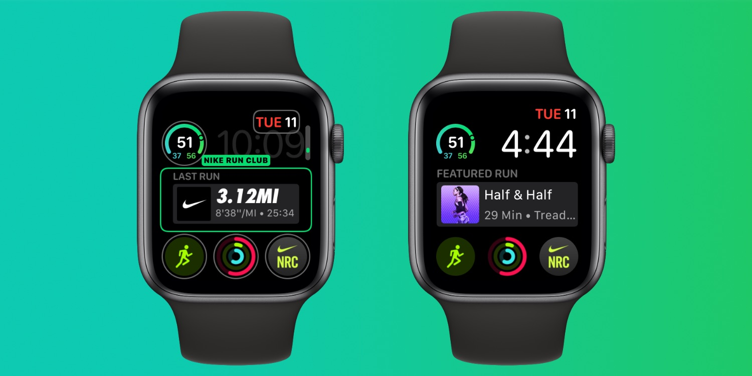 Nike Run Club for Apple Watch Series 4 gains new Infograph Modular complication with run summary and guided runs