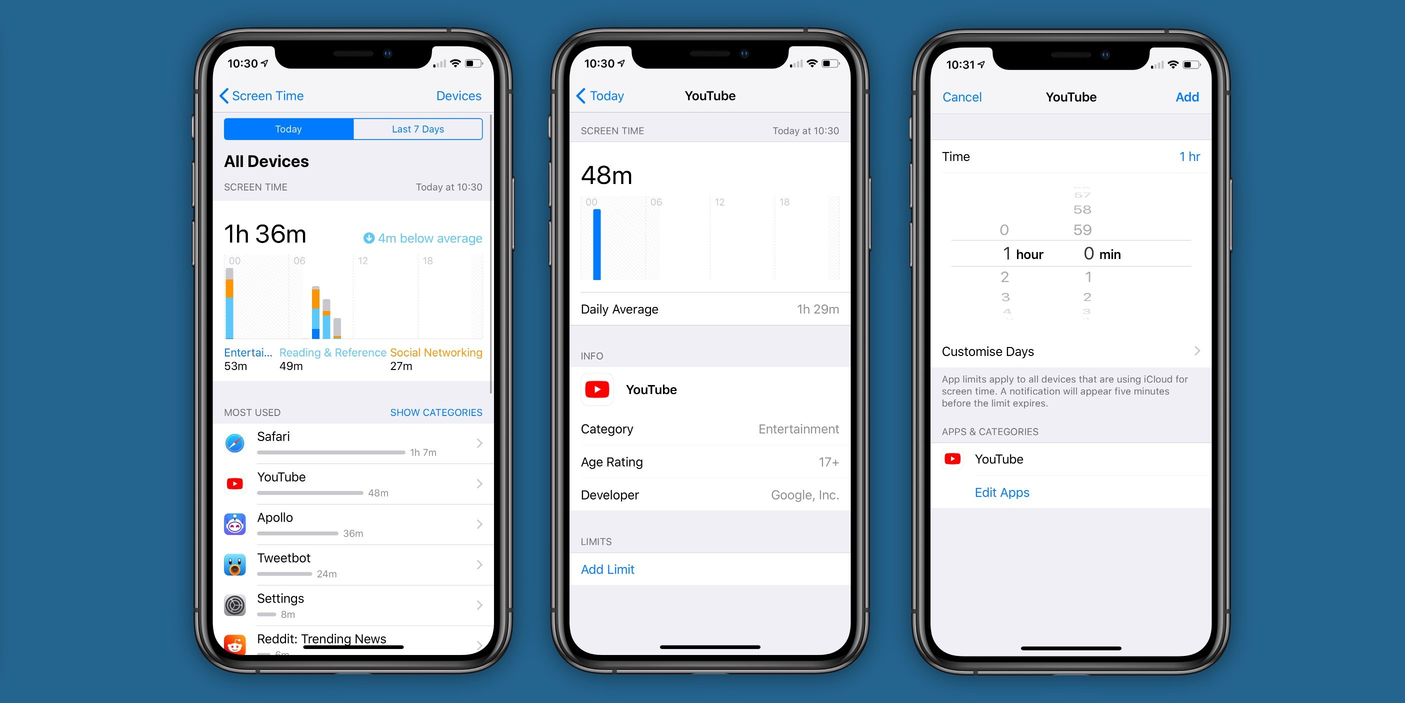 screen time upgrades in iOS 13