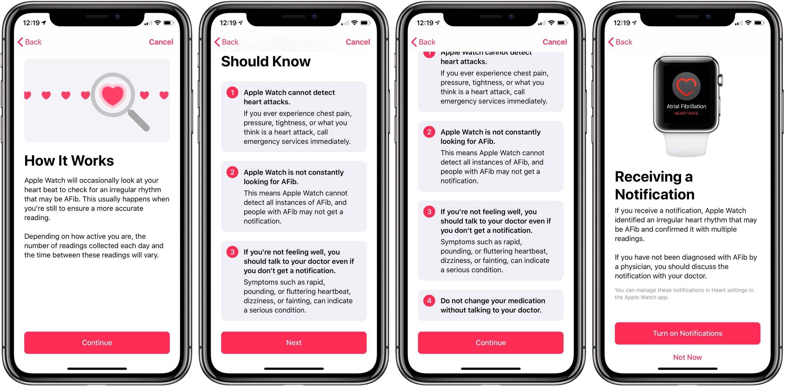 Apple Watch heart notifications