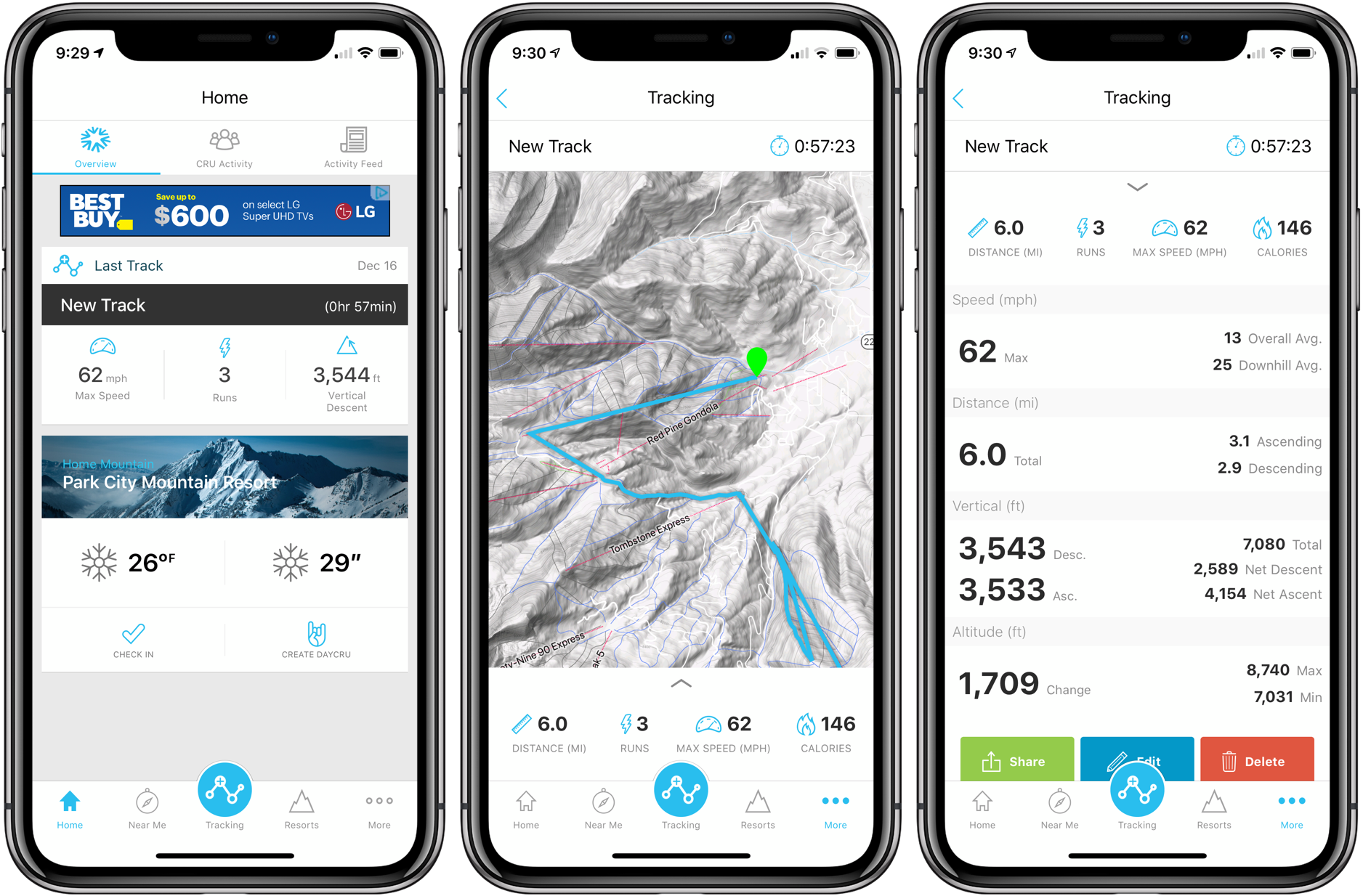 ski snowboard tracking Apple Watch