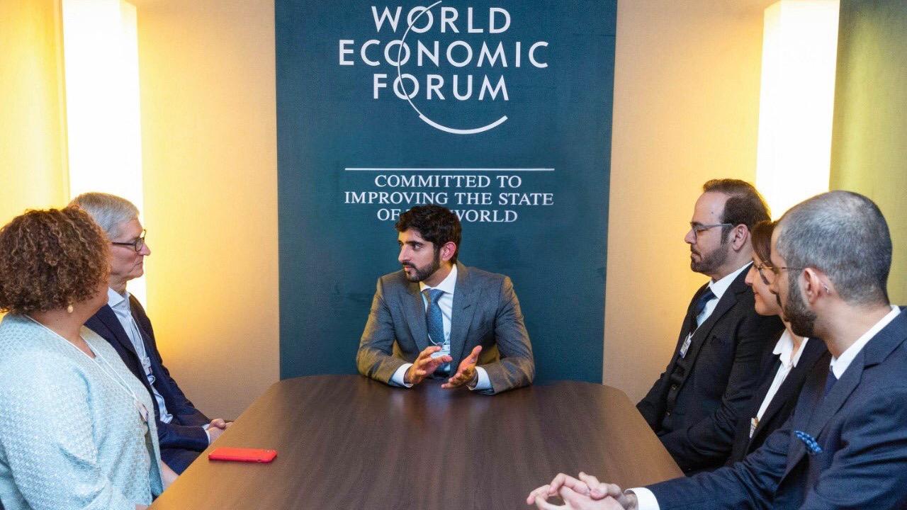 Tim Cook and Lisa Jackson talk innovation with Crown Price of Dubai at World Economic Forum
