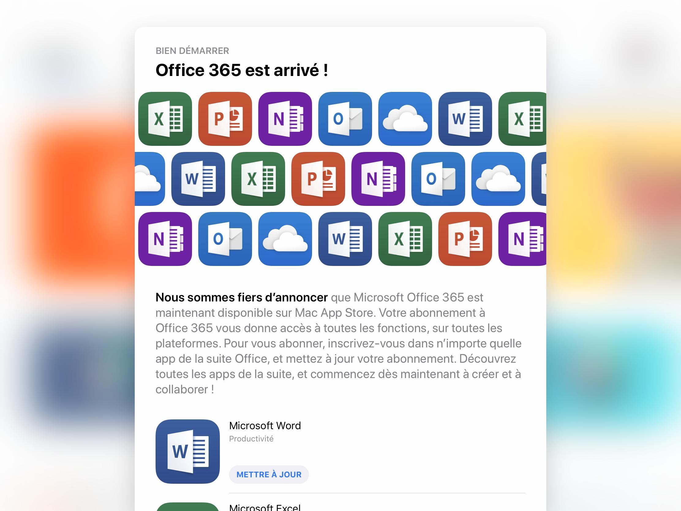 Microsoft Office launch on Mac App Store imminent, subscription