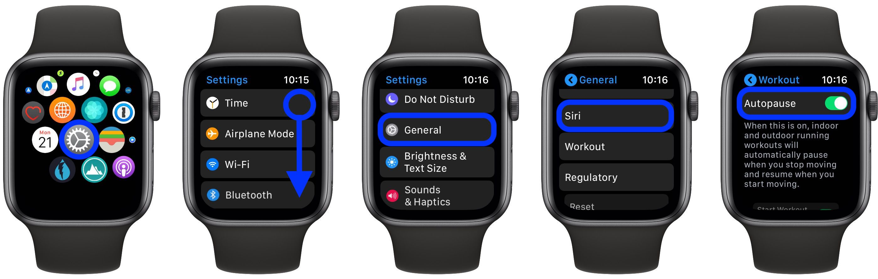 Auto Pause Apple Watch workouts