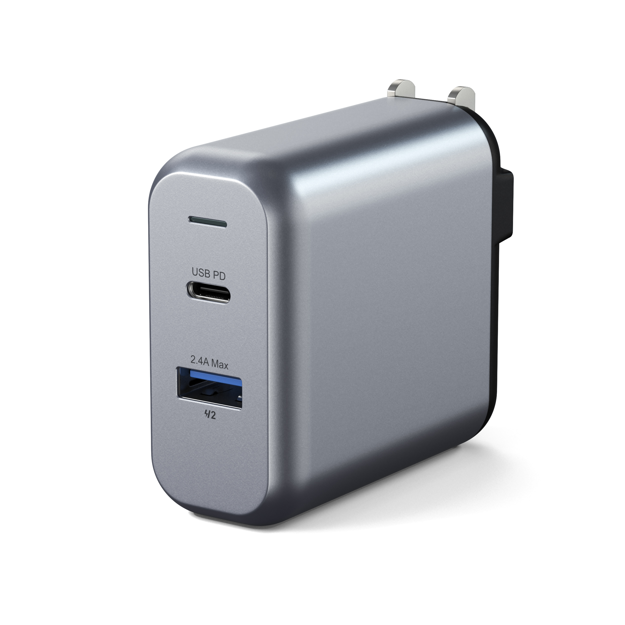 USA Compatible with 2018 MacBook Air iPhone Xs Max//XS//XR and More Satechi 75W Dual Type-C PD Travel Charger Adapter with 2 USB-C PD /& 2 USB 3.0 2018 iPad Pro 2018 MacBook Pro