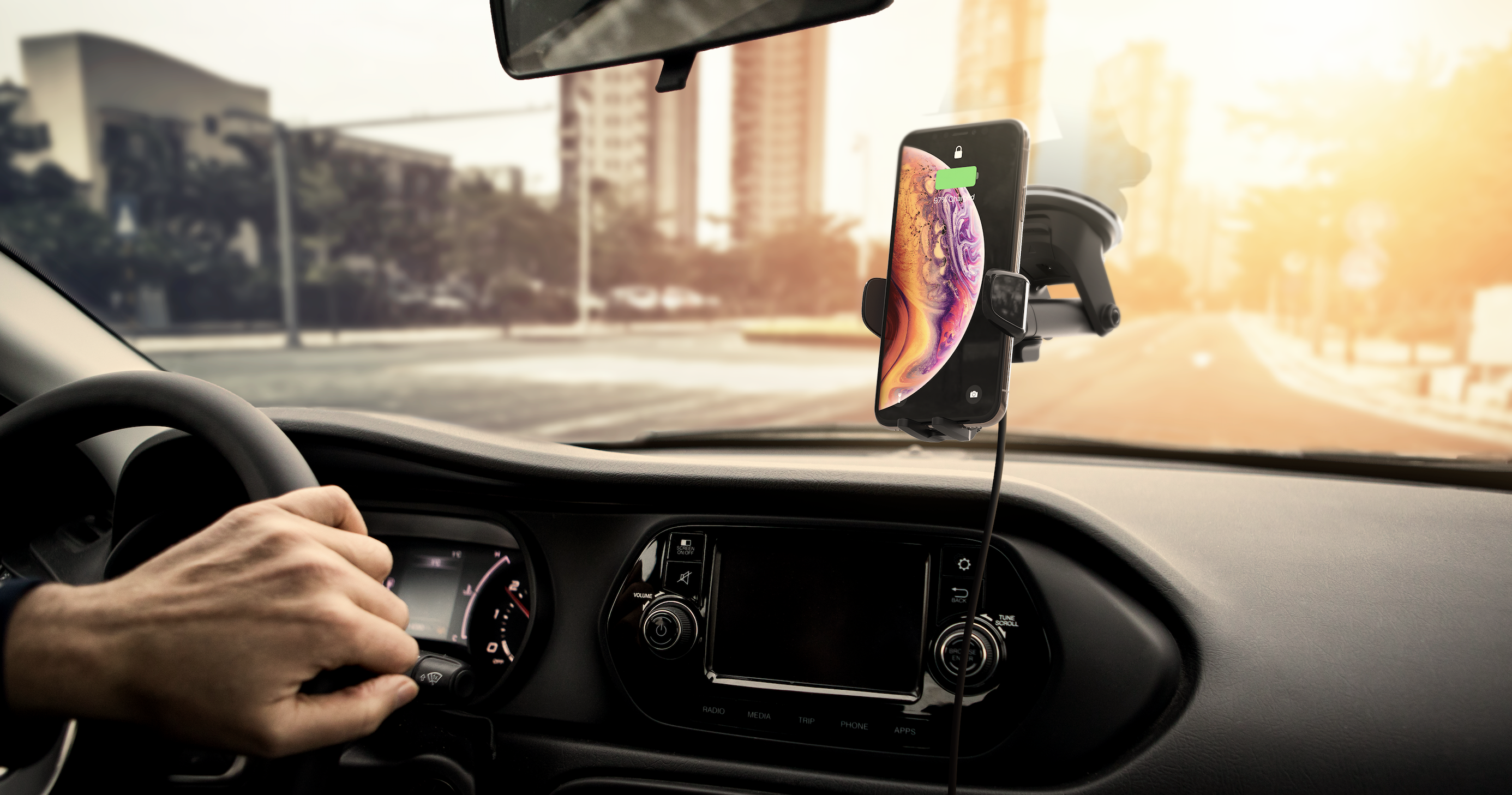 iPhone Alexa car mount