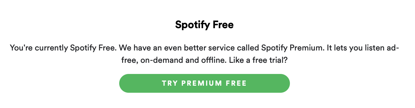 pay for Spotify in the app