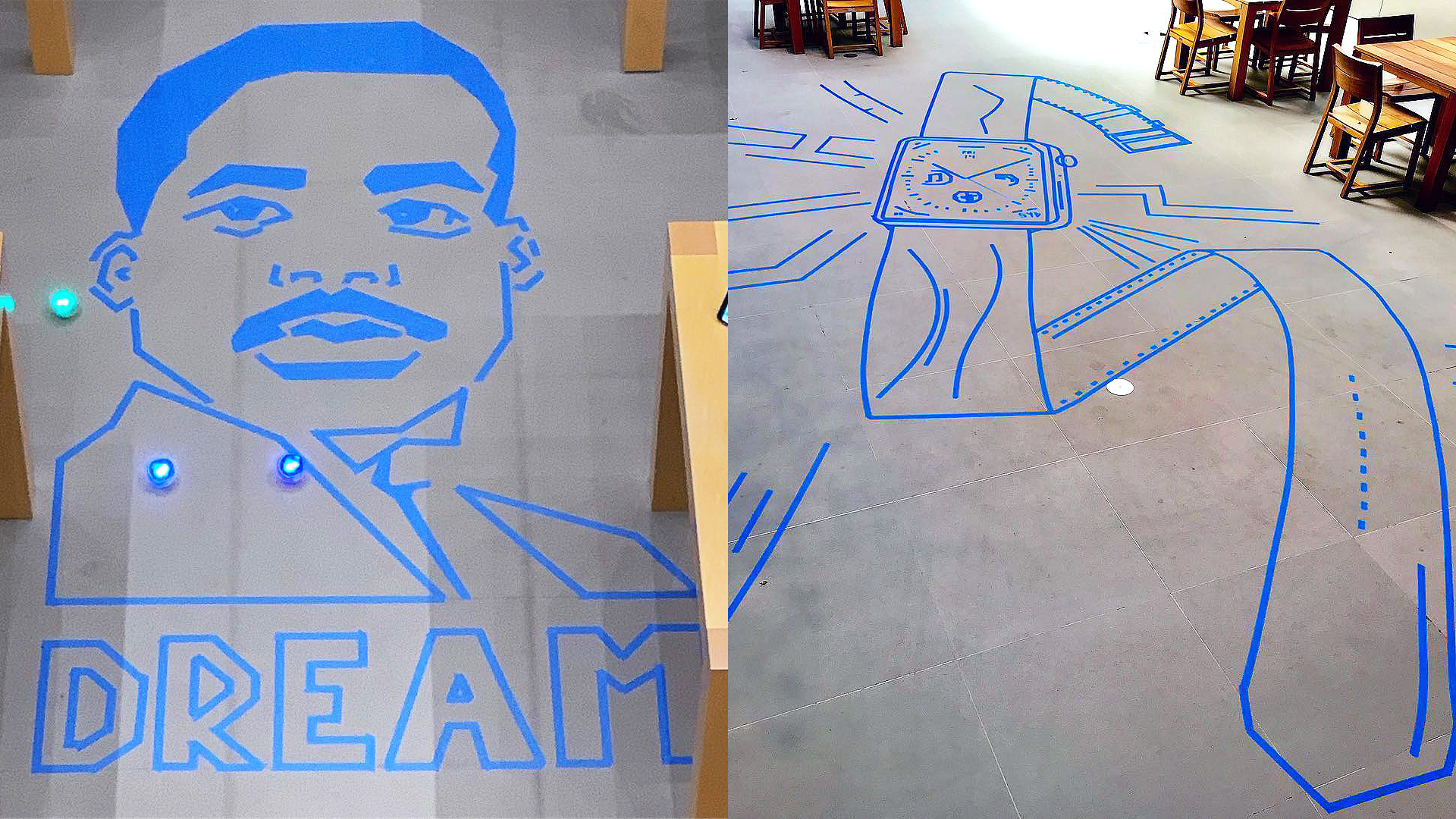 Sphero Maze Art Adds A Creative Twist To A Favorite Apple Store
